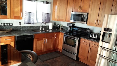 kitchen... Blue Pearl countertops