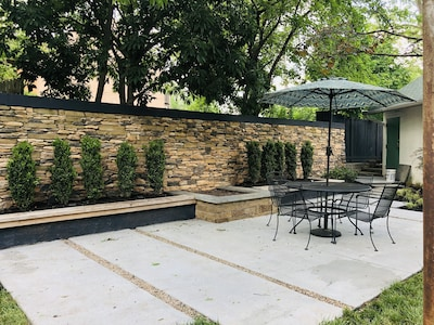 Welcome home!  New patios with fire pit and outdoor lighting, built in 2019.