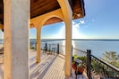 Private balcony overlooking the lake