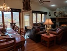 Mountain View from the living room, dinning room, kitchen.  gas fire place & TV