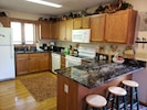 Kitchen fully equipped with extra dishes & every small kitchen appliance needed