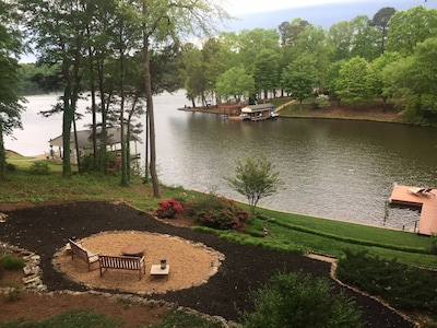 Stunning views & amazing landscaped yard. Great viewing of dock from the deck.