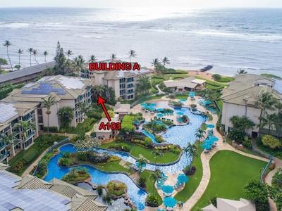 Waipouli Beach Resort A103 1st Floor Beautiful Garden View Steps from the Ocean