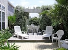 Private courtyard for sunbathing & dining