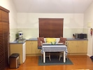 Kitchenette & indoor Dining with window seat plus Filtered water vase