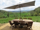 terrace for outdoor dining with fantastic views