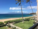 View from lanai looking right. Easy access to beach and condo w/walking path