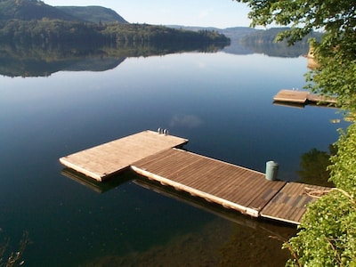 Enjoy the large private dock, perfect for swimming or as a base for your boat.