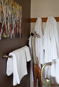 Terry-cloth bathrobes and slipper