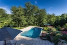 pool overlooking the Toccoa River