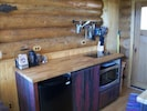 Fully stocked kitchen convection/microwave oven  dorm frig two burner glasstop