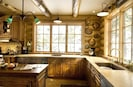 Kitchen with Two Copper Sinks