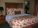 Cozy Master Suite with flat screen TV and private door to balcony!