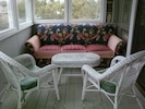 Sleeping Porch off Living Room wih Sleep Sofa