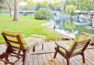 Sit and relax right at the waters' edge!!