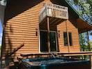 Back deck & hot tub