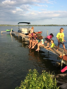 Bring your boat & bumpers. Use our rustic pier  from June thru August.