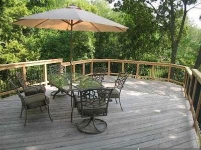 Spacious 16 ft x 27 ft cedar deck