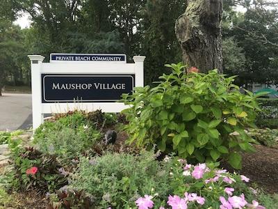 Maushop Village, a private beach community in New Seabury