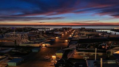 relaxing evenings overlooking docks