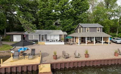 Full View of both cottages North and South from the North dock