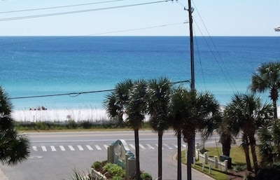 Gulf view from balcony & 2.5 acres of deeded, unspoiled beach