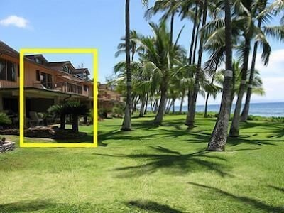 This is the 3 bedroom townhouse in the yellow box. Ocean right there!