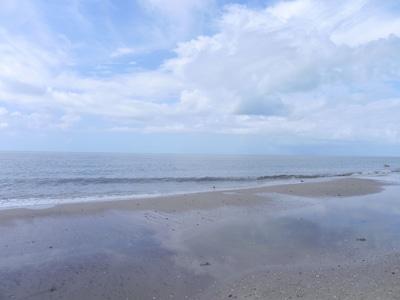 Gentle waves on a pristine beach