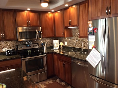 Updated kitchen with new appliances and granite countertops completed May 2016
