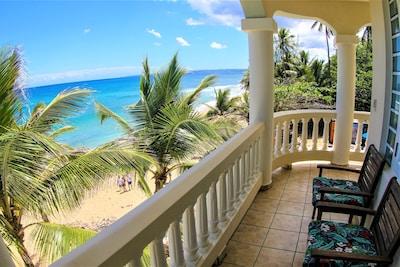 Right on Sandy Beach. Beautiful location. Beautiful accommodations.