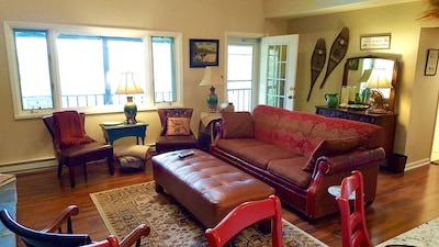 Warm, inviting & uniquely upscale, the living room's the center of your getaway.