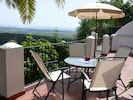 Large terrace with stunning views. THE place for breakfast, lunch and dinner!