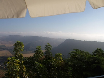 View from terrace where you can watch birds flying on your eye level