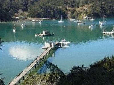 View from deck to wharf