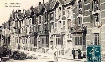 carte postale montrant le groupe de villas