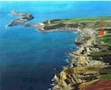 The coast with Clover Cliff  (arrowed)