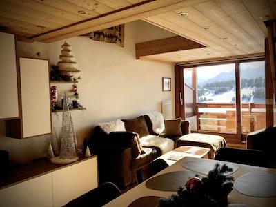 Bureau voor toerisme van Les Saisies, Hauteluce, Savoie (departement), Frankrijk