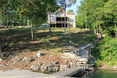 View of House and concrete path from Dock