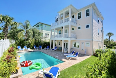 3-story luxurious ocean view home on St. Augustine Beach