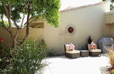 ... And continues into the relaxing, private courtyard/entry patio.