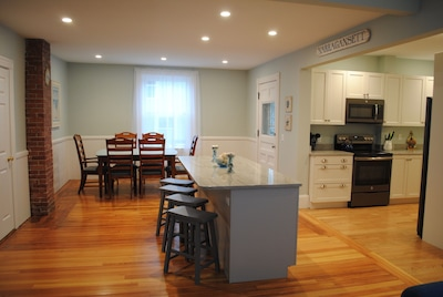 Kitchen , dining room area with plenty of space to gather