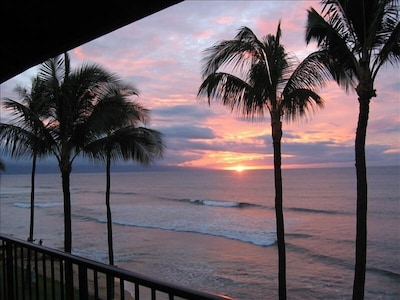 Enjoy spectacular sunsets from our lanai