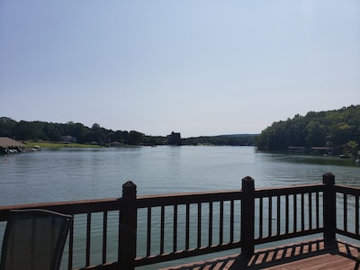 View from the sun deck down the cove toward Mariners Landing.