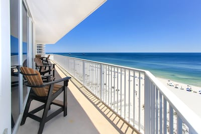 WOW! Spectacular panoramic views from our enormous wrap-around balcony!
