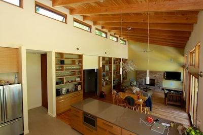 Modern open concept, kitchen, dining & living room - remodeled 2013.