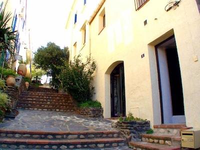 6 rue pasteur banyuls, façade de la maison