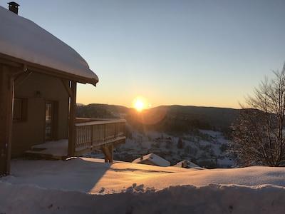 Le plaisir de l'hiver et du côté natur