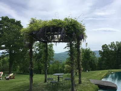 Wisteria Pergola where you can relax and enjoy the views!