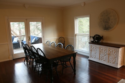 Large dining room can seat 12