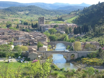 Stunning Lagrasse with its 8th century Abbey.